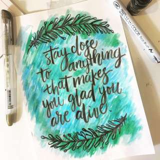 Personalized Hand Lettering / Calligraphy Artwork