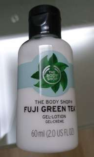 Brand new The Body Shop Fuji green tea gel lotion 60ml