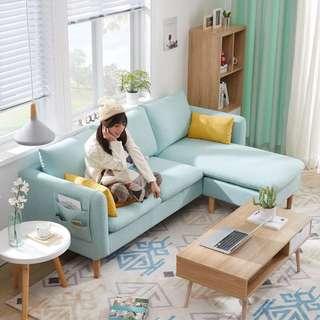 小戶型傢具L形組合北歐拐角布藝沙發