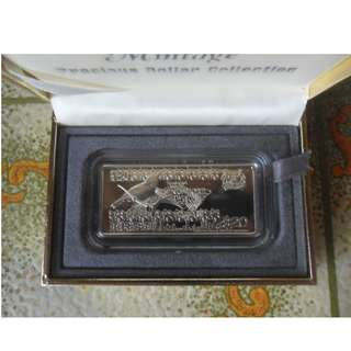 Singapore $20 Bird silver proof ingot*Reserved *