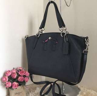Coach Small kelsey Navy Bow