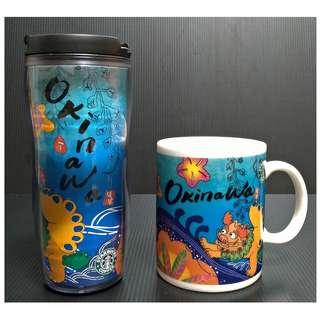【9/1前任兩件折扣250】絕版 STARBUCKS 星巴克 日本 沖繩 OKINAWA 城市杯 馬克杯 隨行杯