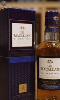 Macallan 酒辦50ml with box 一支。