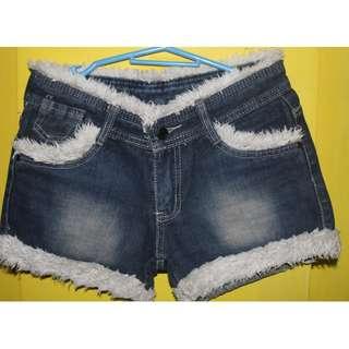 Fur Short - denim short