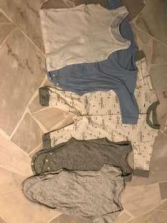 0-6 months Uniqlo bodysuits
