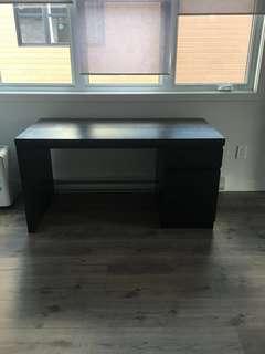 reduced ! Ikea dark brown malm desk