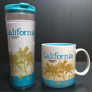 【9/1前任兩件折扣250】絕版 STARBUCKS 星巴克 美國 加州 CALIFORNIA 城市杯 馬克杯 隨行杯