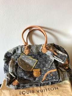 1b1fb788e2b7 Louis Vuitton LV Denim Patchwork Bowly Bag