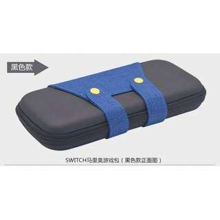 全新 Nintendo switch 硬包 配件主機包 收納包 保護包 馬里奧款 黑色