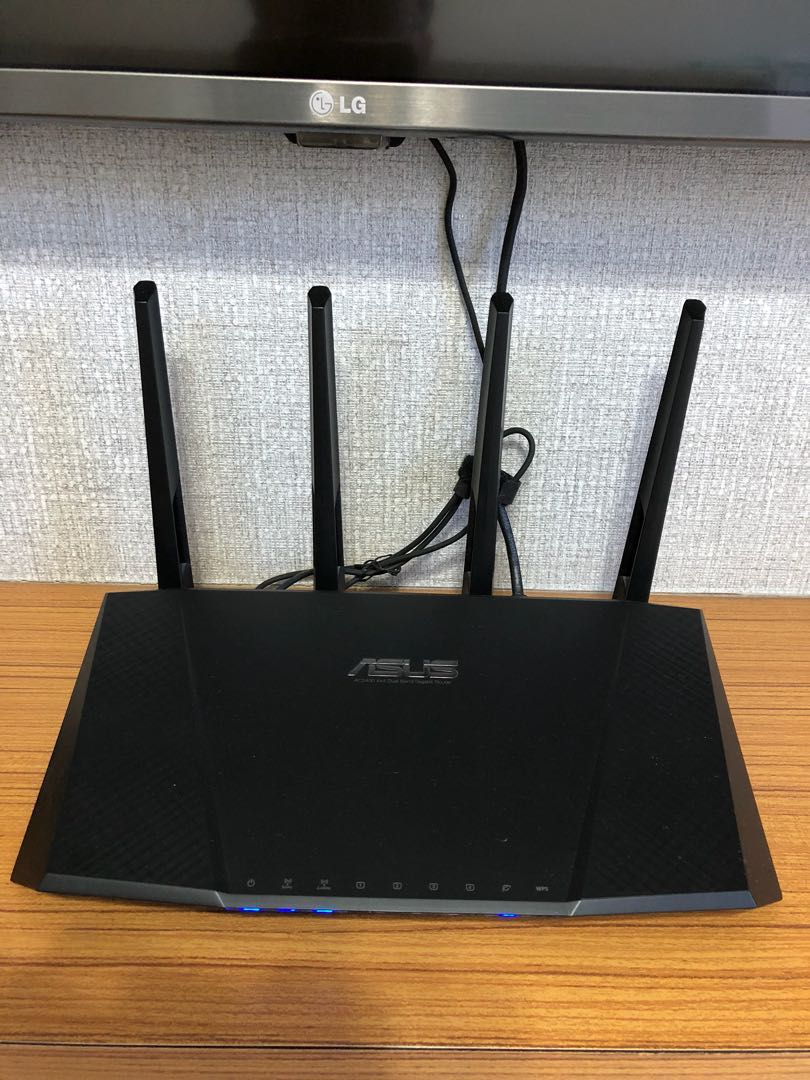 Asus Rt Ac87u Router Electronics Others On Carousell Ac3200 Tri Band Gigabit Wireless Ac 3200 Mbps Photo