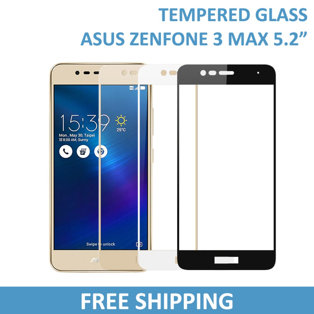 "ASUS Zenfone 3 Max 5.2"" Tempered Glass Screen Protector, Mobile Phones & Tablets, Mobile & Tablet Accessories, Mobile Accessories on Carousell"