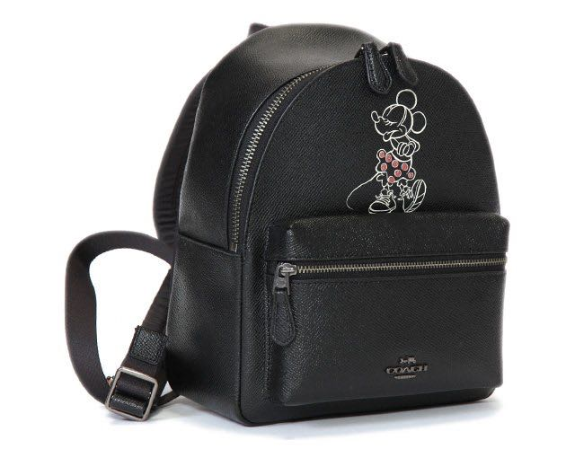 944a0fe828 Authentic Coach F29353 Mini Leather Charles Backpack With Minnie ...