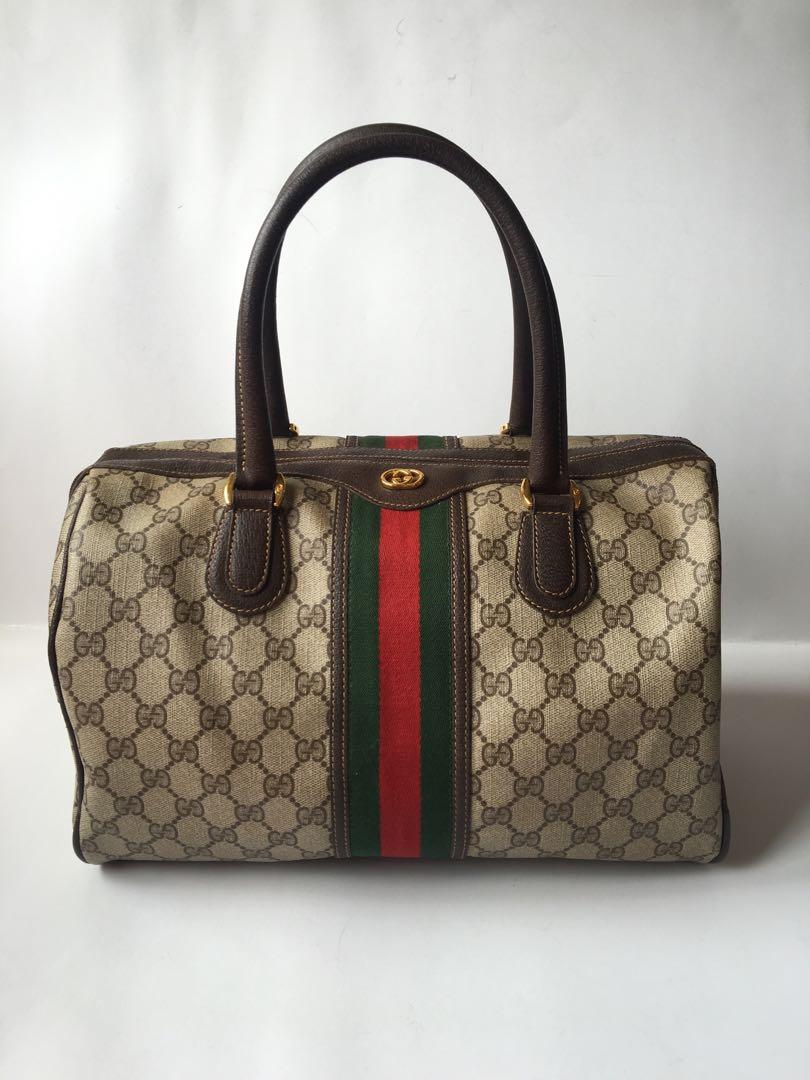 59ff15d6675 Authentic Gucci Vintage GG Monogram Doctor Bag