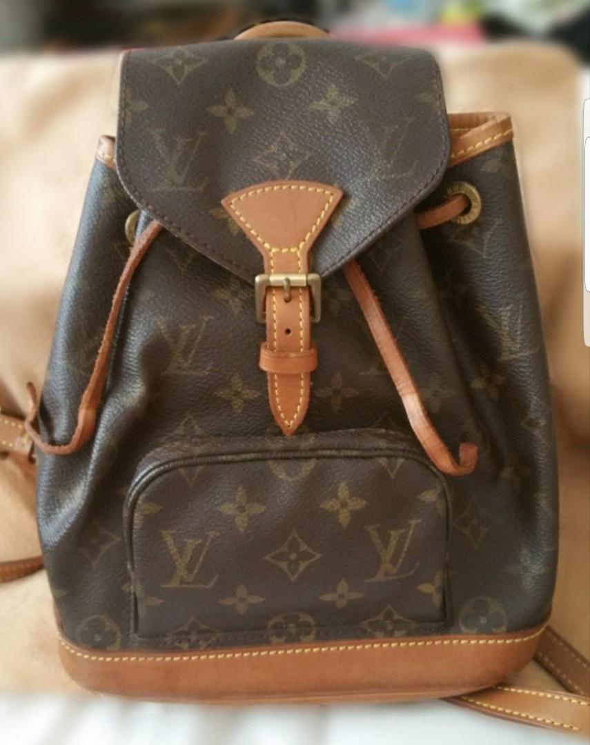 06c0e3c5ffe0 Authentic LV Louis Vuitton LV Montsouris Mini Backpack Vintage ...