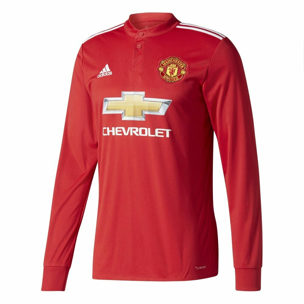 newest db3f1 09754 Authentic Manchester United Jersey Long Sleeve 2017/2018
