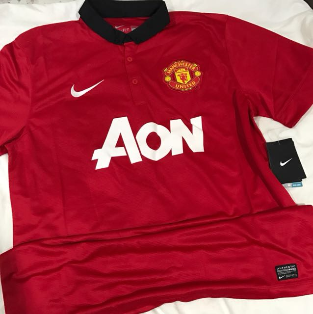 1c6af000e2c Brand New Authentic Man United Home Jersey 13 14