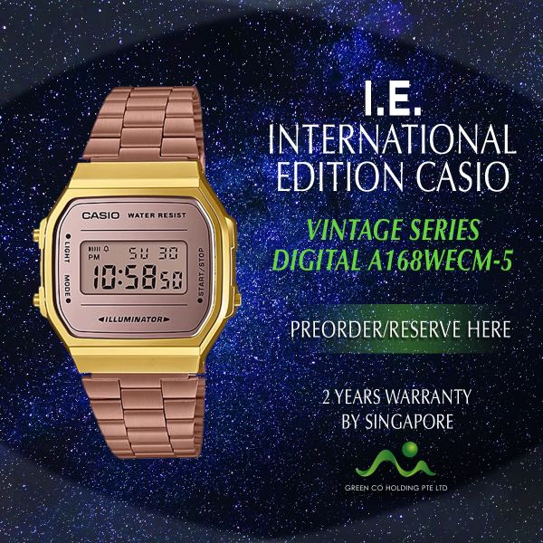 CASIO INTERNATIONAL EDITION VINTAGE SERIES DIGITAL A168WECM-5 efffe57309