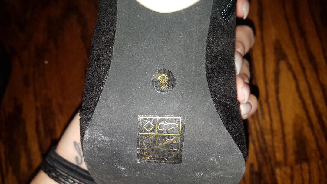 Clear heel booties
