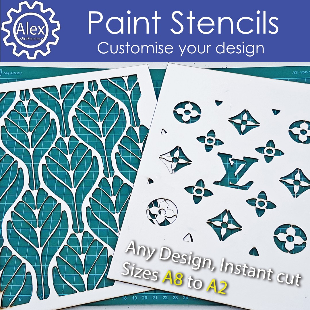 Custom Plastic Stencils   Customised designs for Logo & Text Spray painting  or wall decor