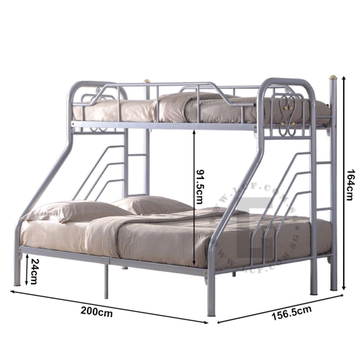 Double Bunk Bed Frame ( No Mattress )
