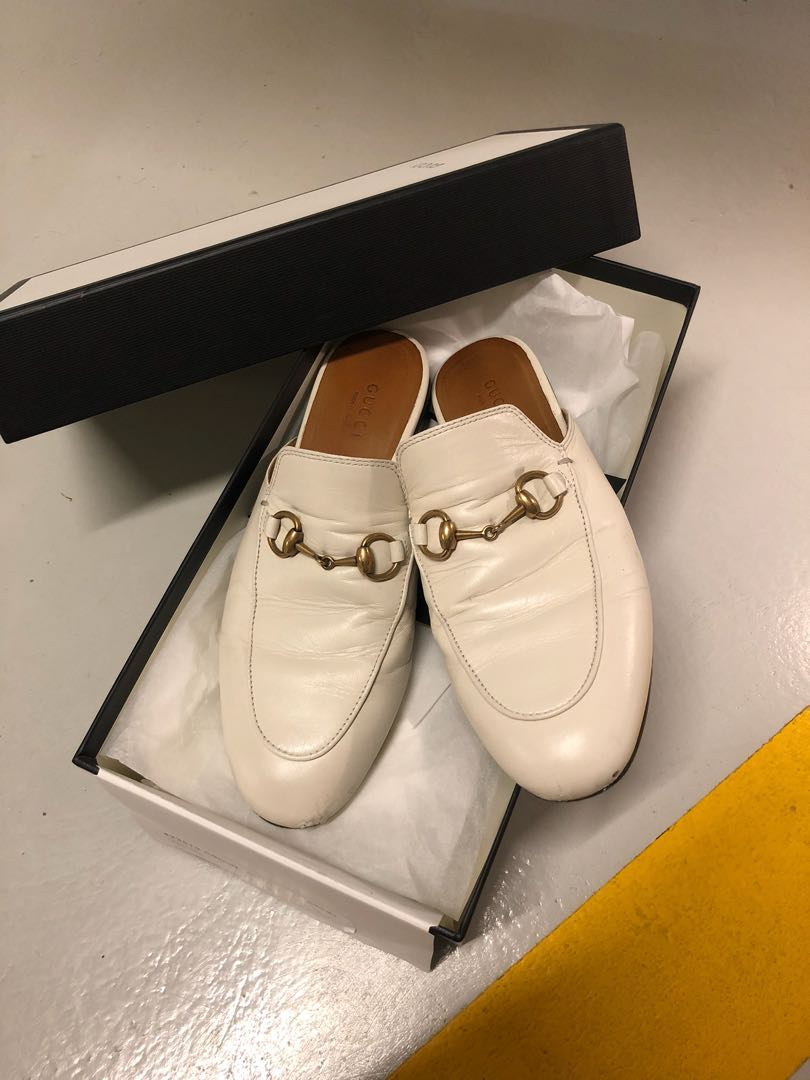 0f865bc165f Gucci Princetown Horsebit-detailed Leather Mules