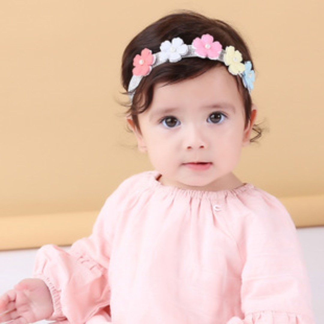 🌟INSTOCK🌟 Pastel Rainbow Floral Tiara Headpiece Baby Girl Headband ... 0eba5422344