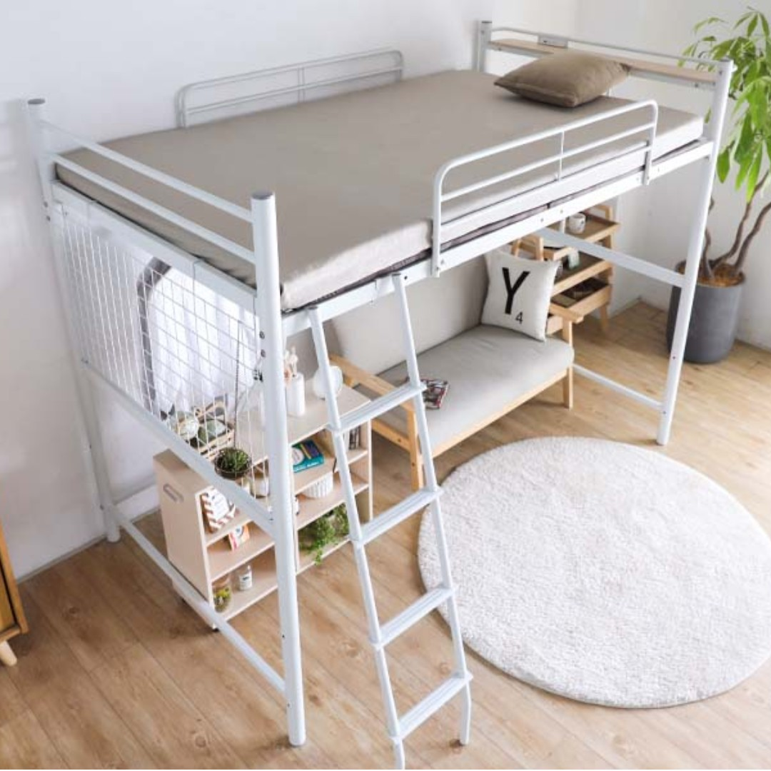 Linie Japanese Metal Loft Bed Ladder Semi Double Jp Size Furniture Beds Mattresses On Carousell