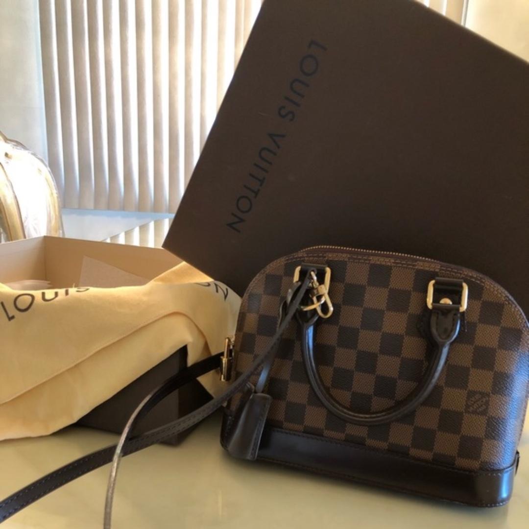 872fccbab9e Louis Vuitton Alma B.B. Damier Ebene, Luxury, Bags & Wallets on ...