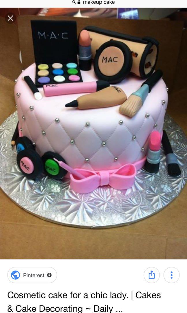 Makeup cake, Food & Drinks, Baked Goods