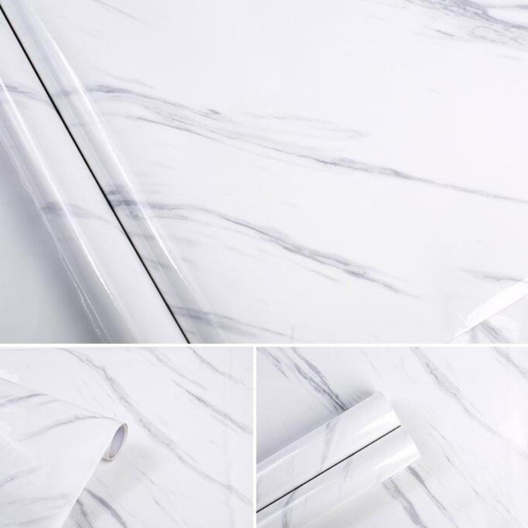 Matte Marble Granite Effect Vinyl Wrap Self Adhesive Counter