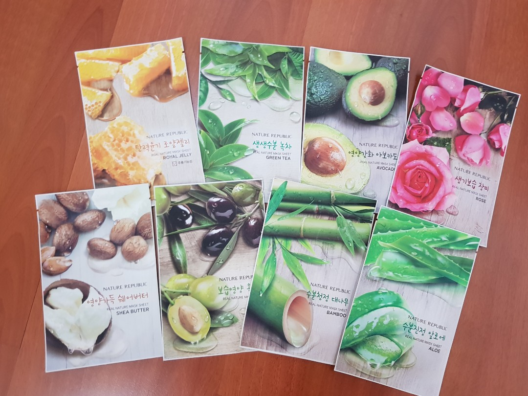 Nature Republic Sheet Mask Health Beauty Skin Bath Body On Masker Carousell