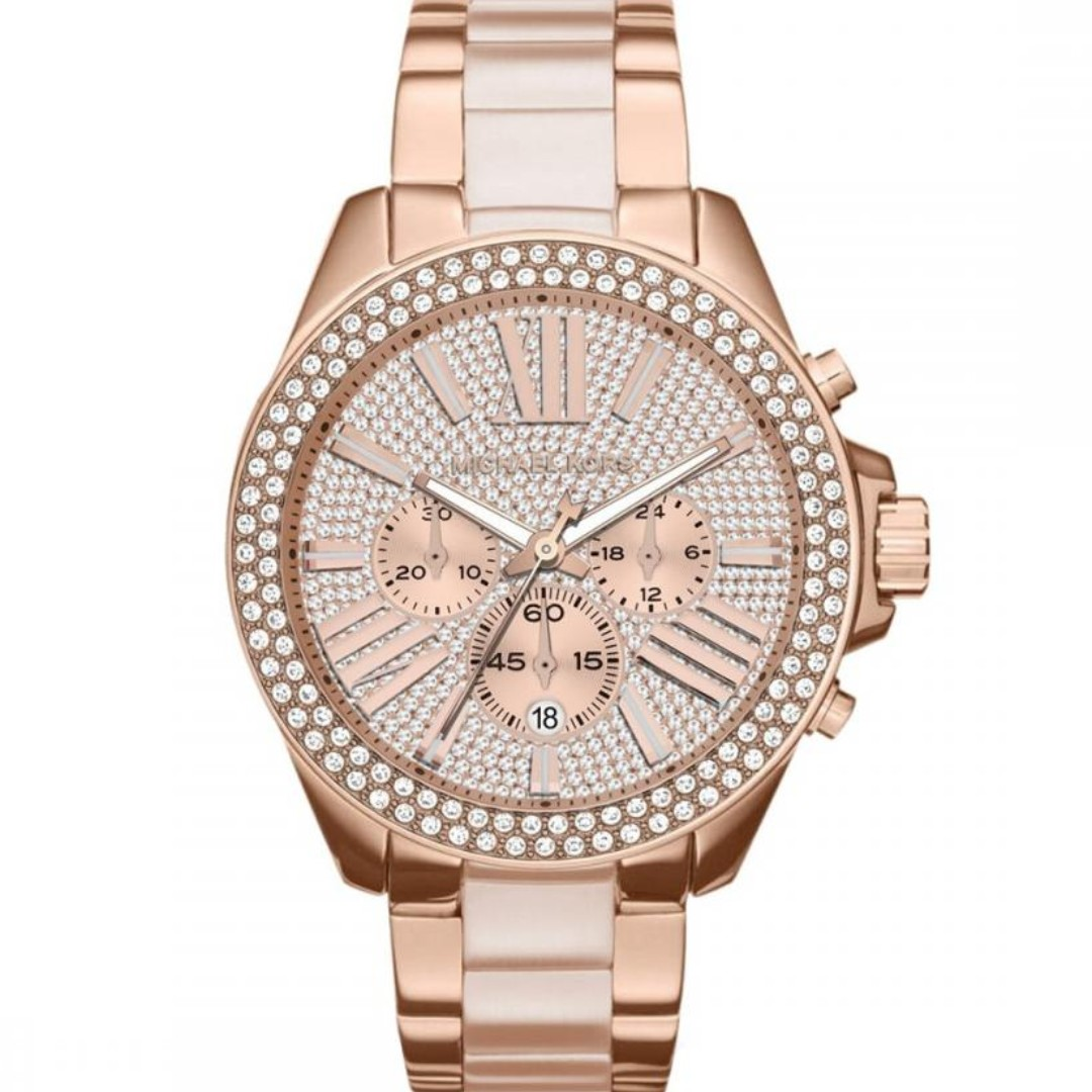 a1222deb97f6 NEW Michael Kors MK6096 Wren Chronograph Women s Steel Watch (Rose ...