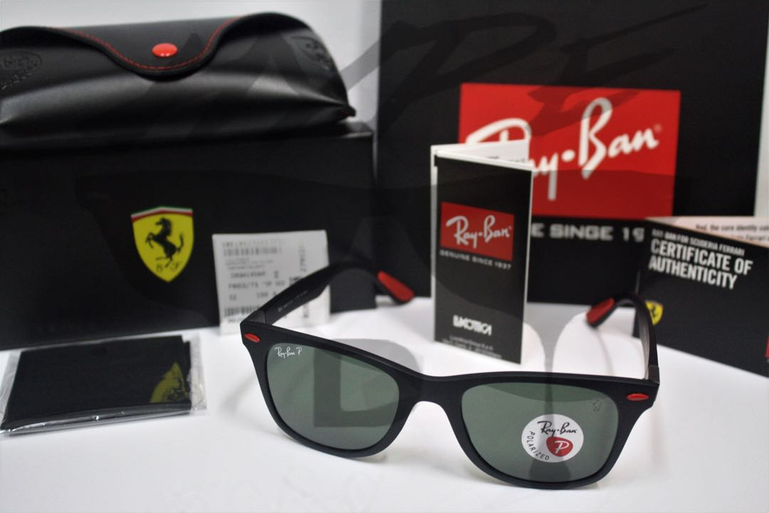 99c8745e85 Original Ray Ban Wayfarer Liteforce Ferrari Scuderia RB4195MF F602 ...