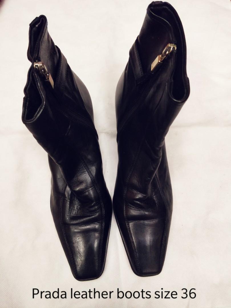 b8351c73e8a3 Prada leather boots size 36