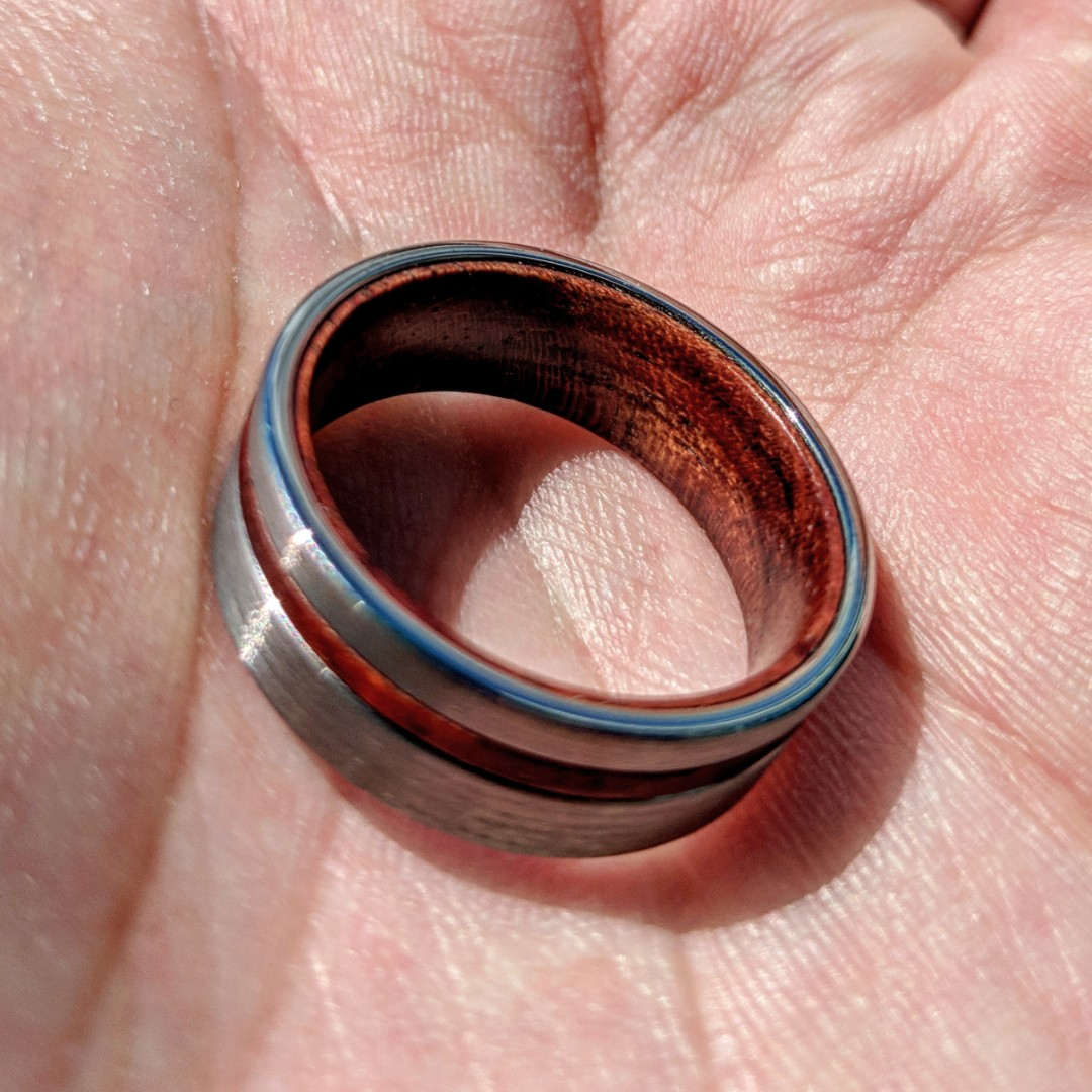 Pre-launch Special* Tungsten Carbide Ring with Wood Inlay, Men\'s ...