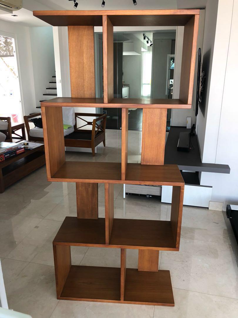 Scanteak Solid Wood Stiga Bookcase Large Furniture