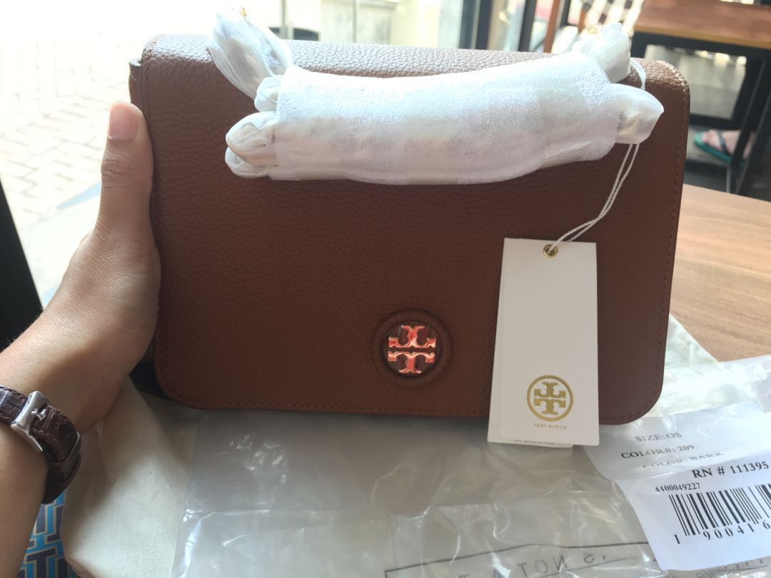 Tory Burch Whipstitch Logo Adjustable Chain Crossbody Womens Bag Fashion Bags Wallets On Carousell