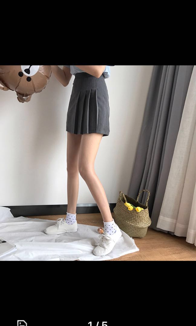 408ef66b64 ulzzang tennis skirt (FAST DEALS @ $12), Women's Fashion, Clothes, Dresses  & Skirts on Carousell