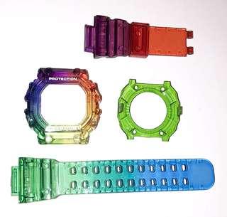 Casio G-shock Gx-56/Gxw-56 代用彩虹錶帶錶殻 (非原廠)(strap only)