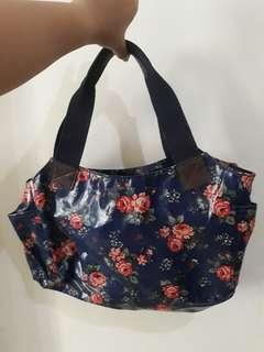 Blue floral Hand bag