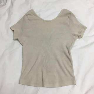 Brandy Melville Ribbed Top
