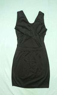 Backless Dress Black