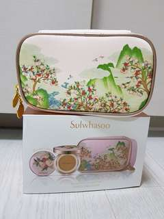 Sulwhasoo limited edition Peach Blossom Spring Utopia makeup pouch