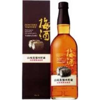 山崎蒸溜所貯蔵焙煎熟成梅酒750ML