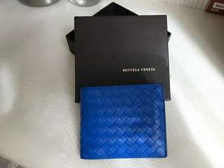 BNIB Limited Edition Signal Blue Bottega Veneta Bi-Fold Wallet