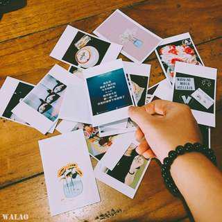 LOMO CARDS CUSTOMIZATION RM25 FOR 100PCS