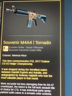 CSGO souvenir M4A4 Tornado