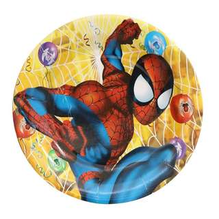 """Superheroes Spiderman party supplies - party plates 9"""""""
