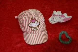 Pink cupcake baseball cap