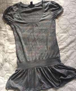 Mango grey long shirt